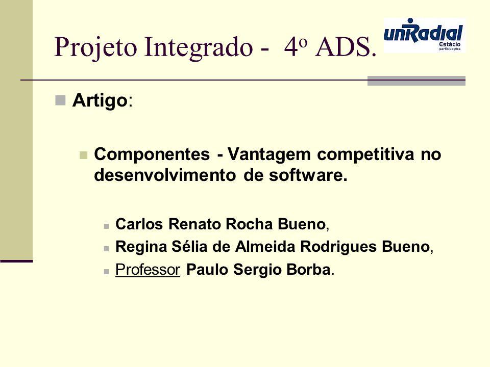 Projeto Integrado - 4o ADS.