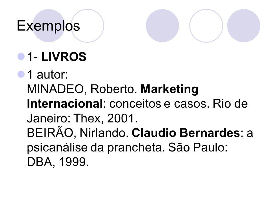 Exemplos 1- LIVROS.