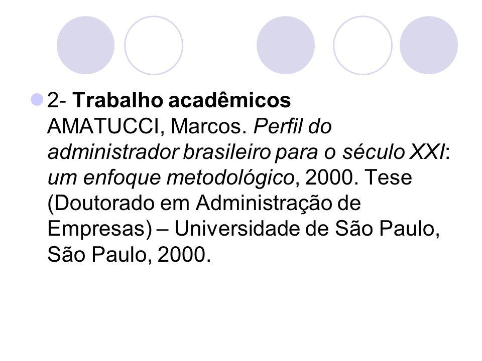2- Trabalho acadêmicos AMATUCCI, Marcos