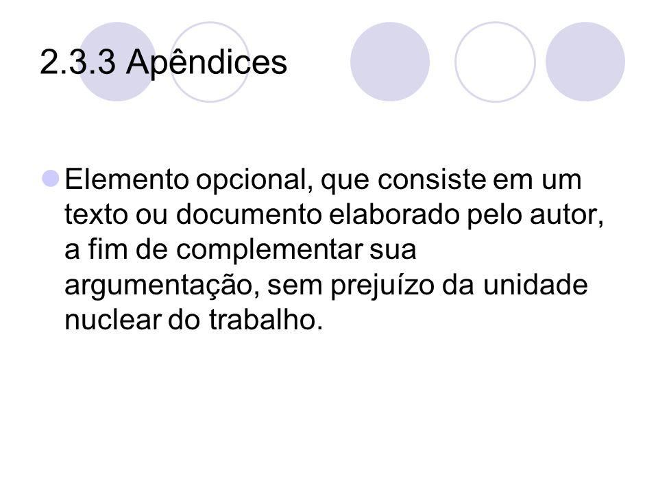 2.3.3 Apêndices