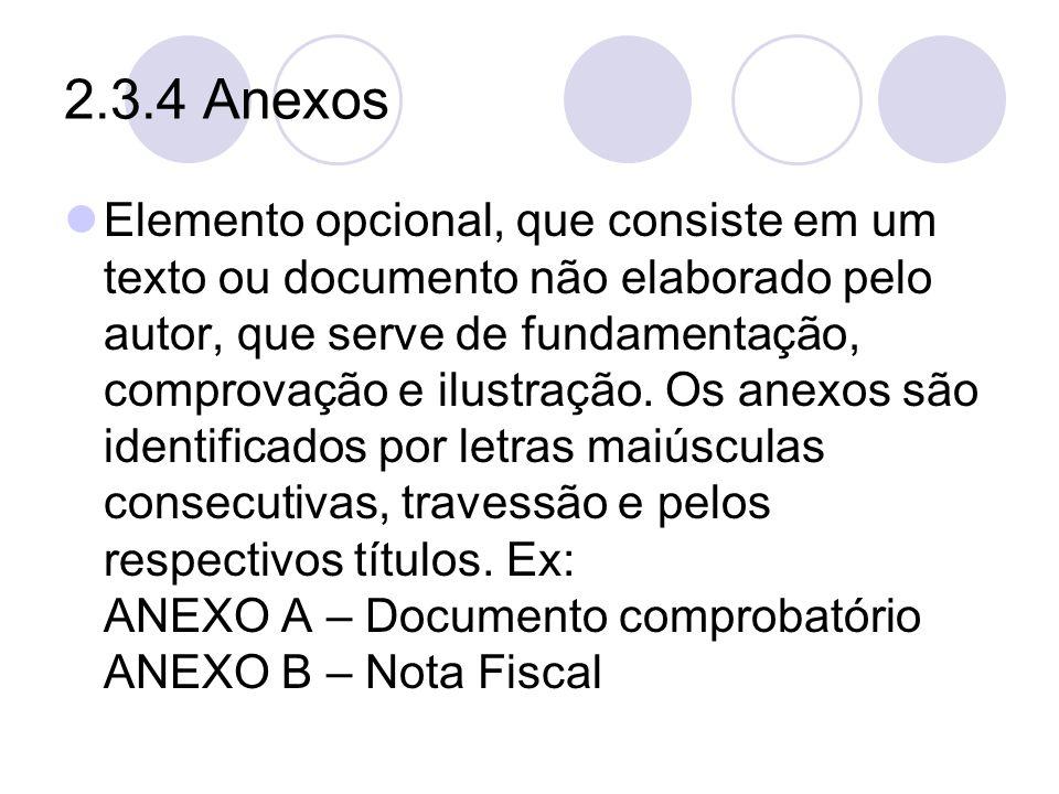 2.3.4 Anexos