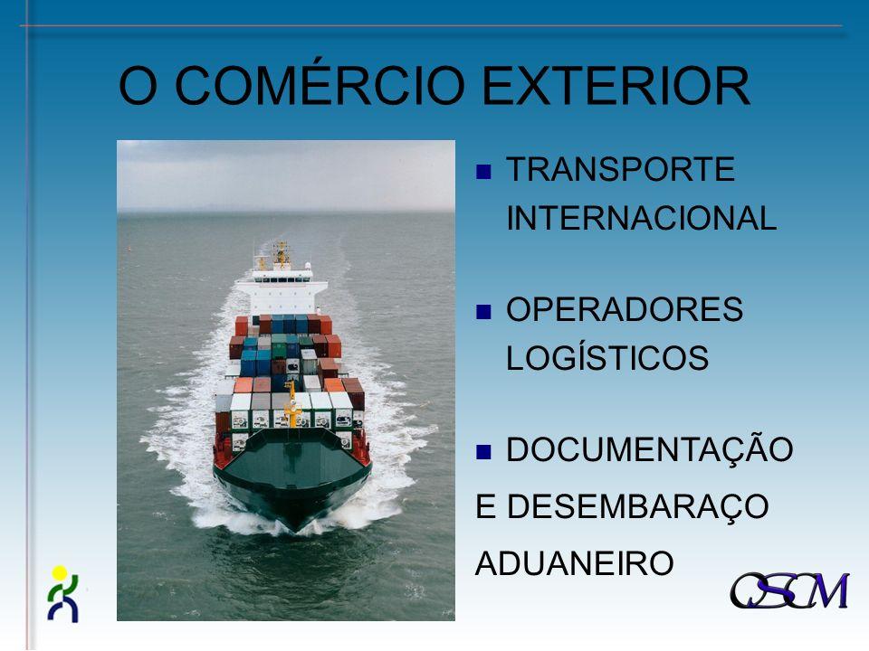 O COMÉRCIO EXTERIOR TRANSPORTE INTERNACIONAL OPERADORES LOGÍSTICOS