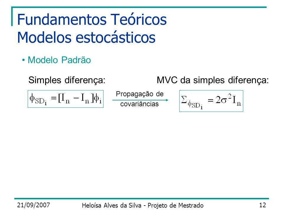 Fundamentos Teóricos Modelos estocásticos