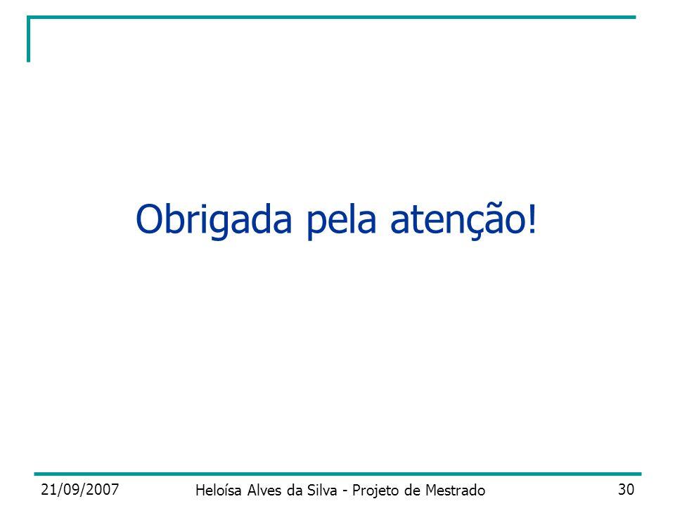 Heloísa Alves da Silva - Projeto de Mestrado