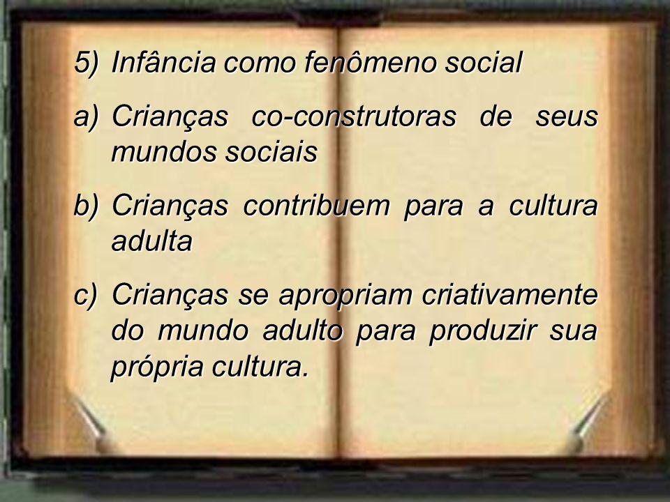 Infância como fenômeno social