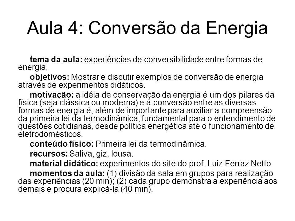 Aula 4: Conversão da Energia