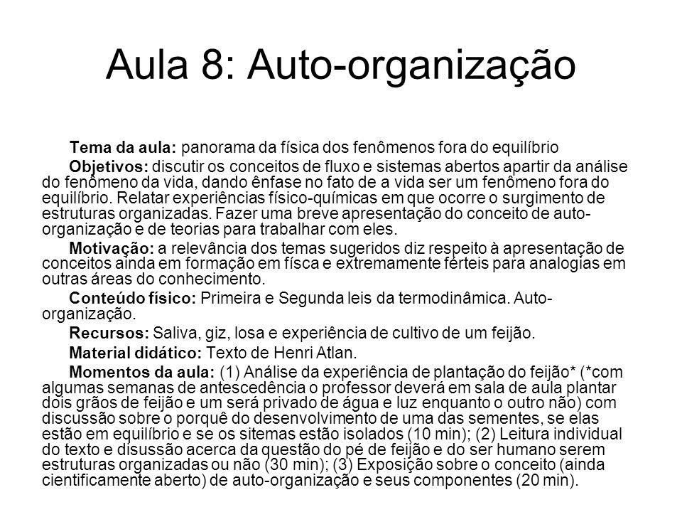 Aula 8: Auto-organização