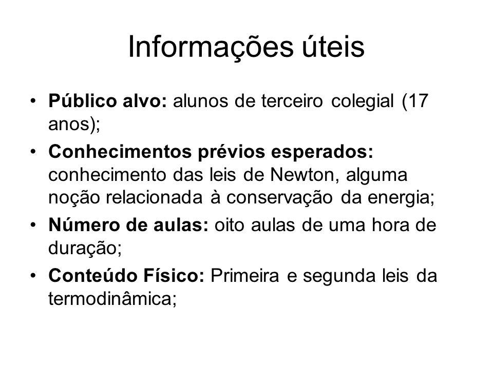 Informações úteis Público alvo: alunos de terceiro colegial (17 anos);