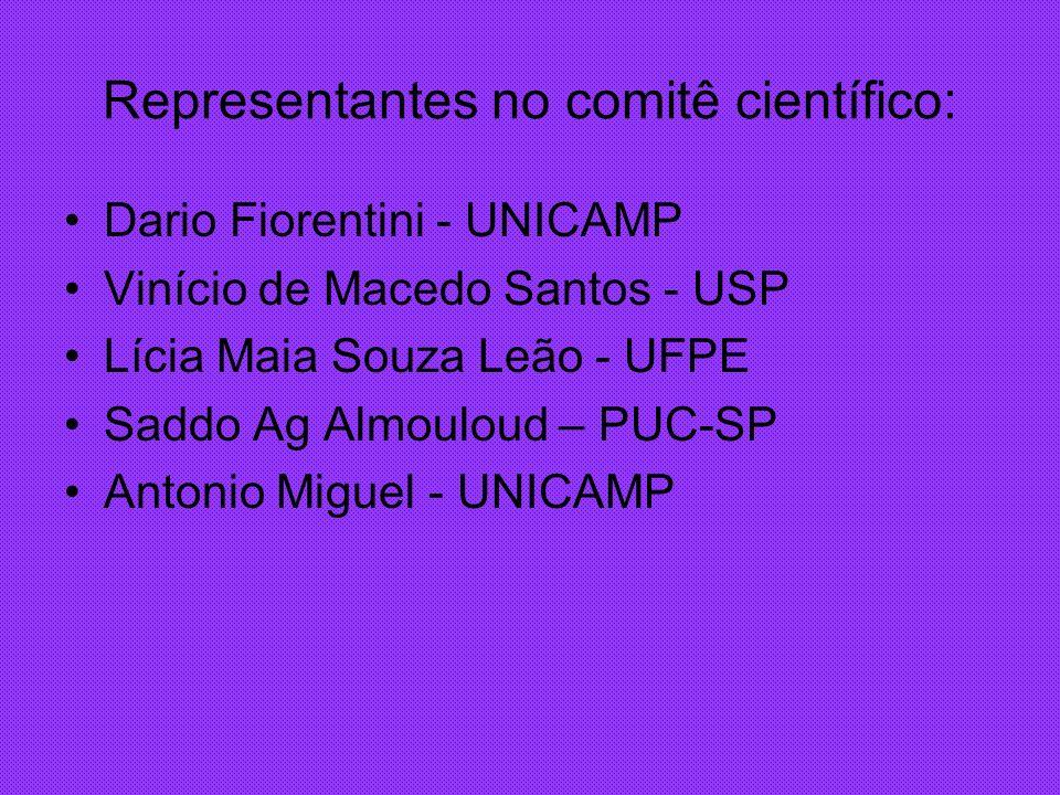 Representantes no comitê científico: