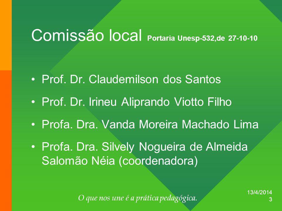 Comissão local Portaria Unesp-532,de 27-10-10