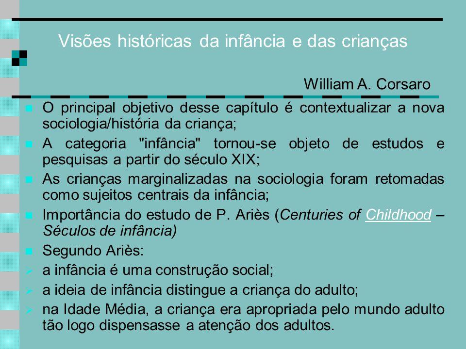 Visões históricas da infância e das crianças