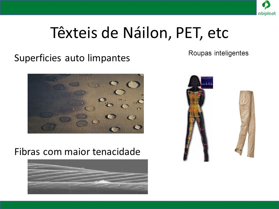 Têxteis de Náilon, PET, etc