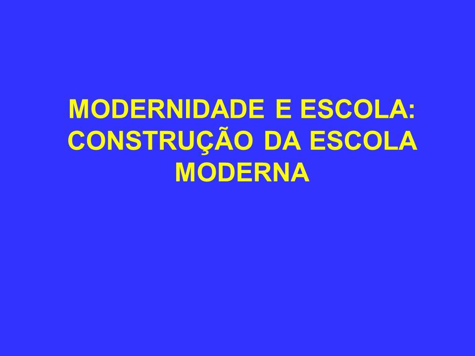 MODERNIDADE E ESCOLA: CONSTRUÇÃO DA ESCOLA MODERNA