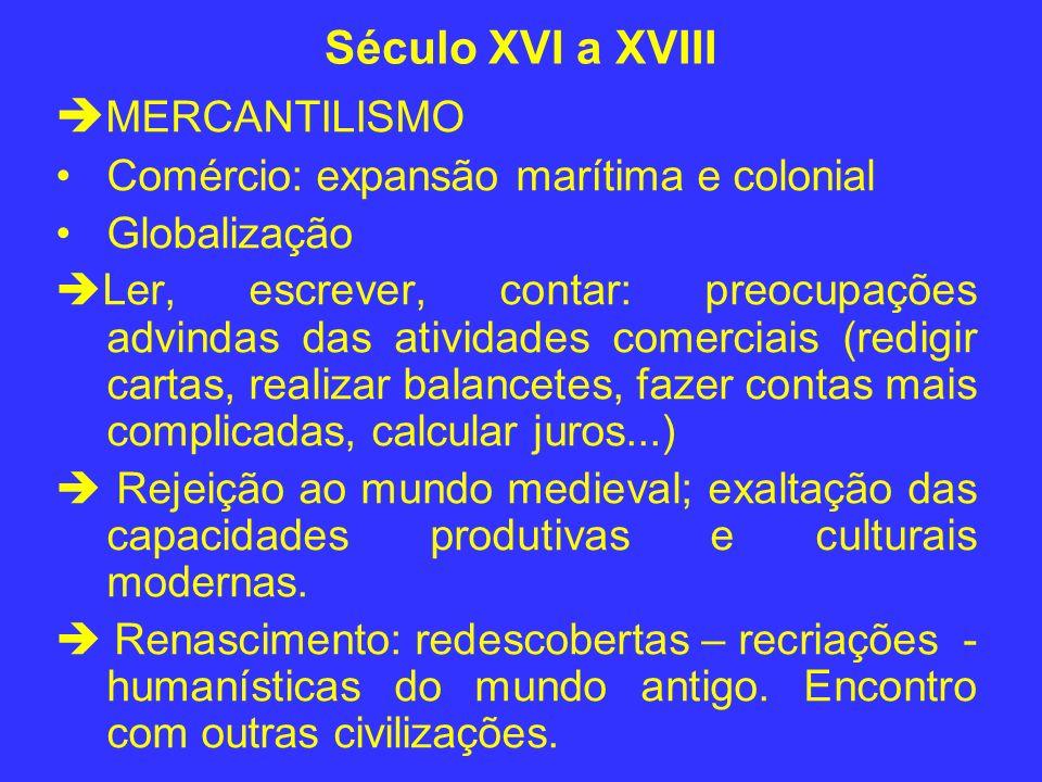 Século XVI a XVIII MERCANTILISMO