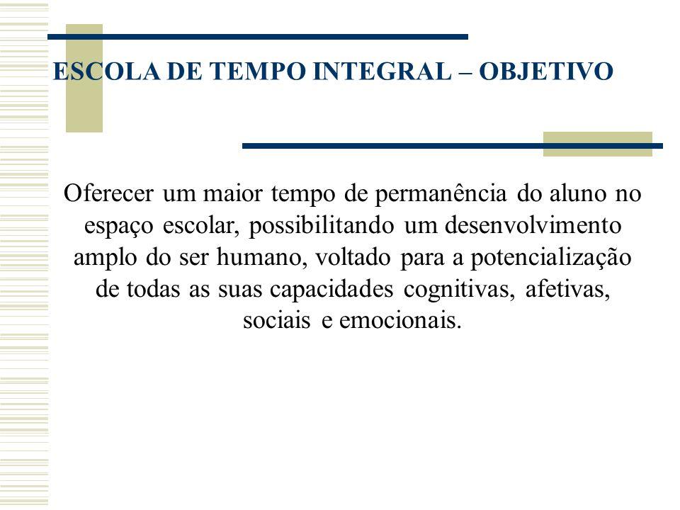 ESCOLA DE TEMPO INTEGRAL – OBJETIVO