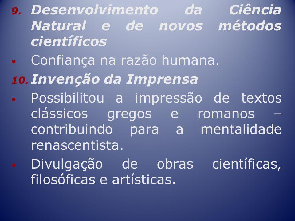 Desenvolvimento da Ciência Natural e de novos métodos científicos