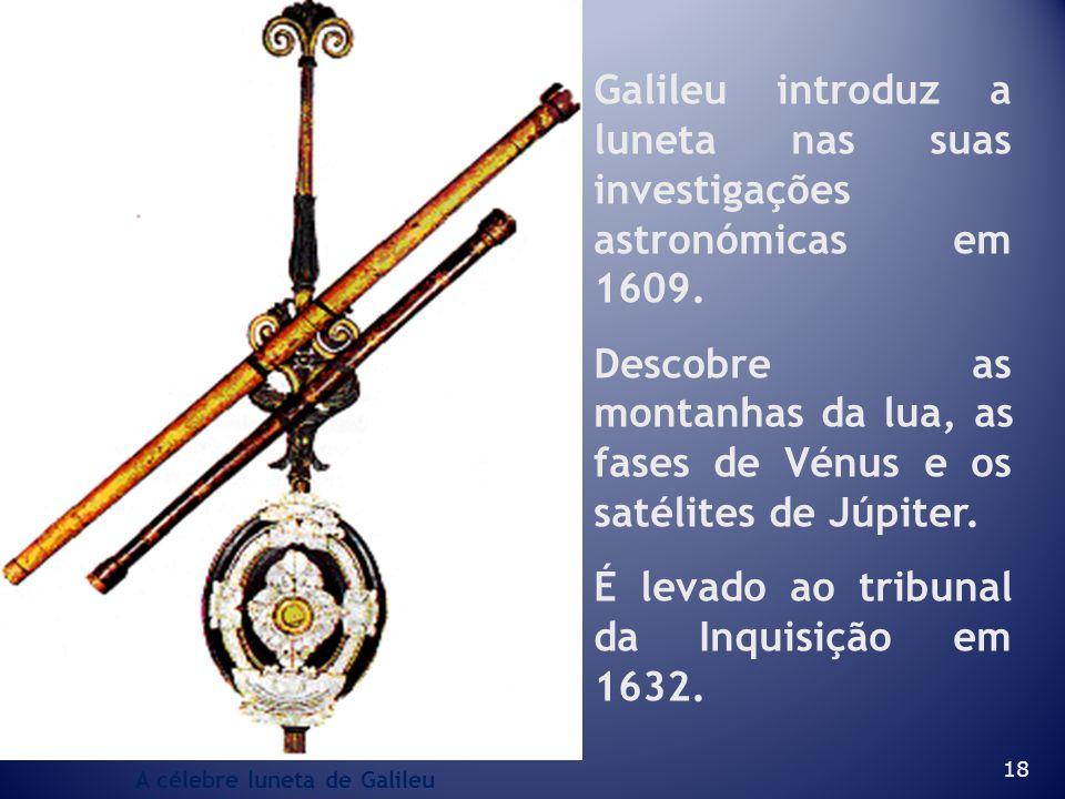 Galileu introduz a luneta nas suas investigações astronómicas em 1609.