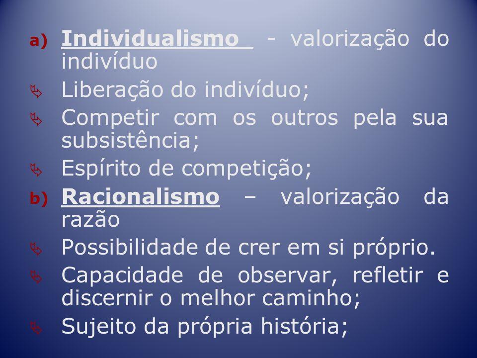 Individualismo - valorização do indivíduo