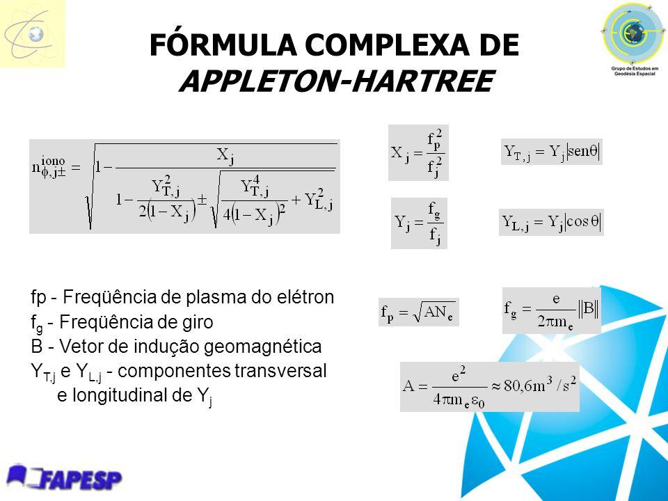 FÓRMULA COMPLEXA DE APPLETON-HARTREE