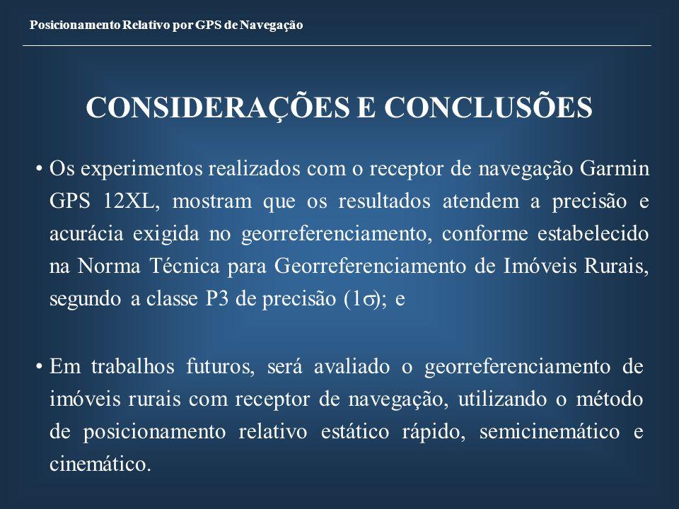 CONSIDERAÇÕES E CONCLUSÕES