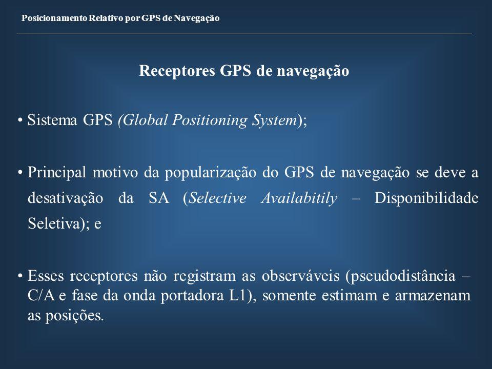 Receptores GPS de navegação