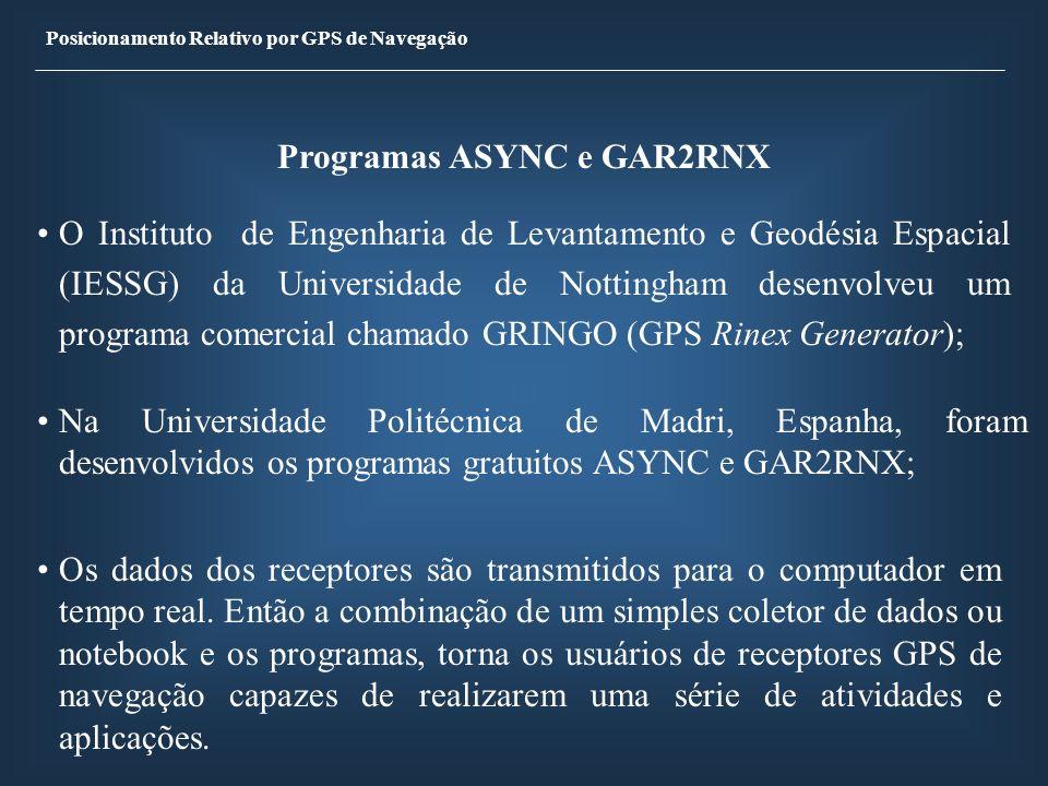Programas ASYNC e GAR2RNX