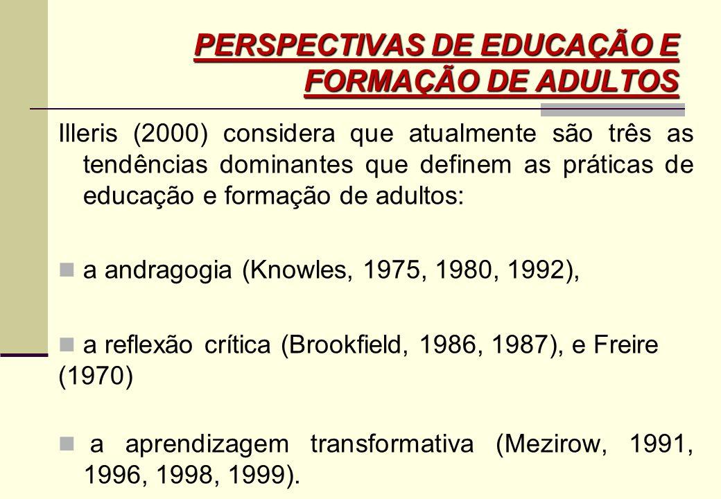 PERSPECTIVAS DE EDUCAÇÃO E FORMAÇÃO DE ADULTOS