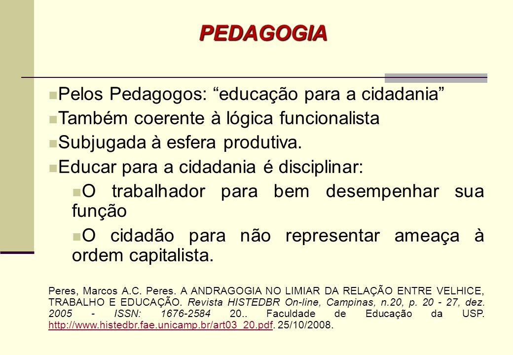 PEDAGOGIA Pelos Pedagogos: educação para a cidadania