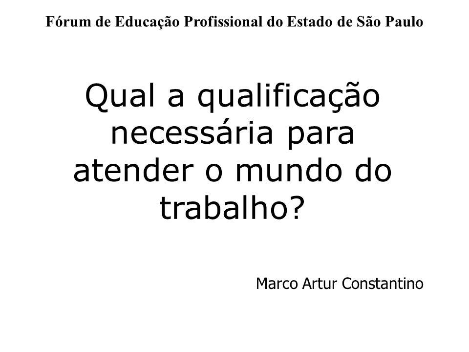 Fórum de Educação Profissional do Estado de São Paulo