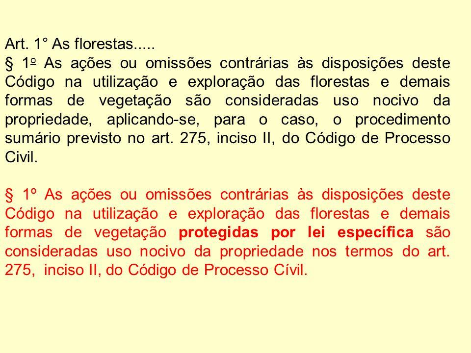 Art. 1° As florestas.....