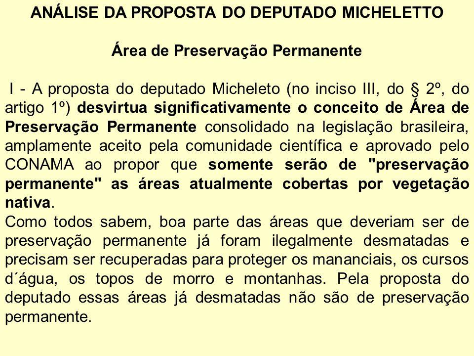 ANÁLISE DA PROPOSTA DO DEPUTADO MICHELETTO