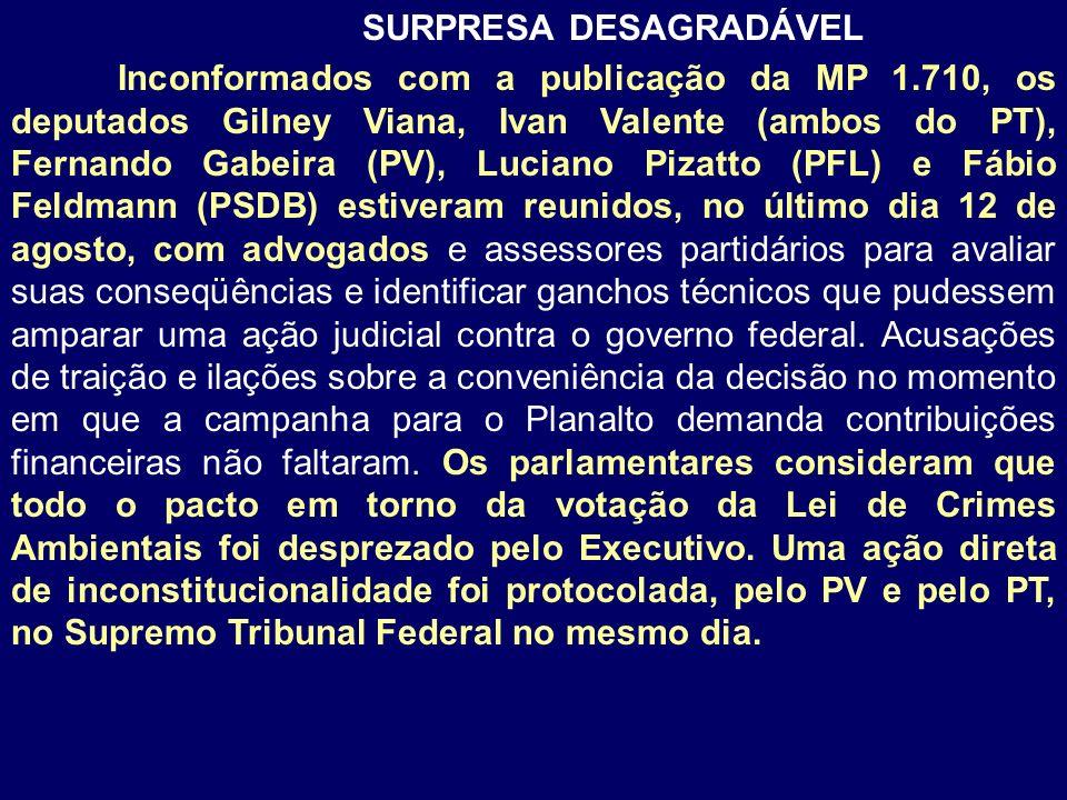 SURPRESA DESAGRADÁVEL