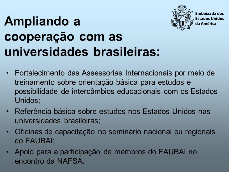 Ampliando a cooperação com as universidades brasileiras:
