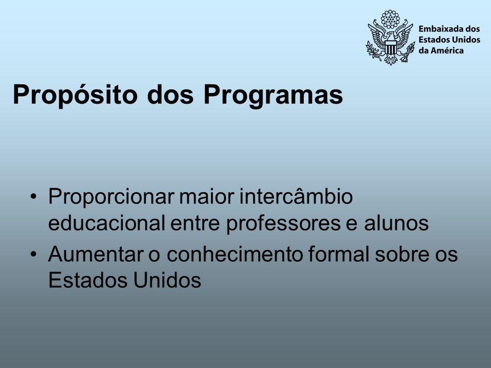 Propósito dos Programas