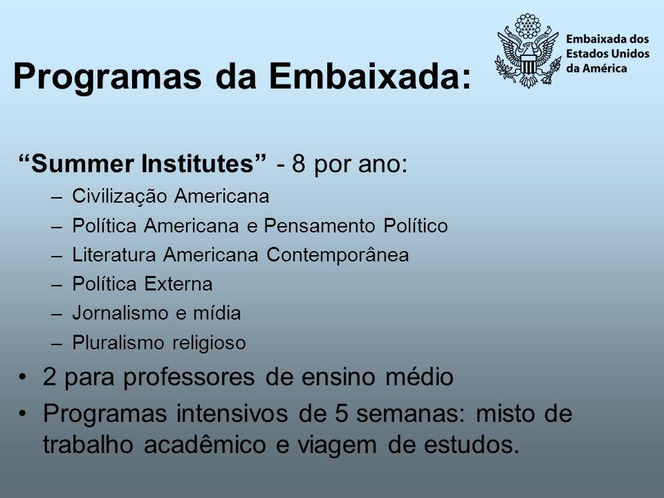 Programas da Embaixada: