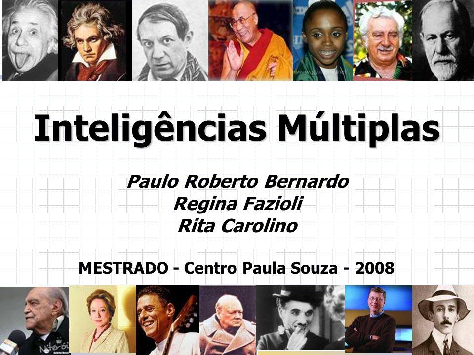 Paulo Roberto Bernardo MESTRADO - Centro Paula Souza - 2008