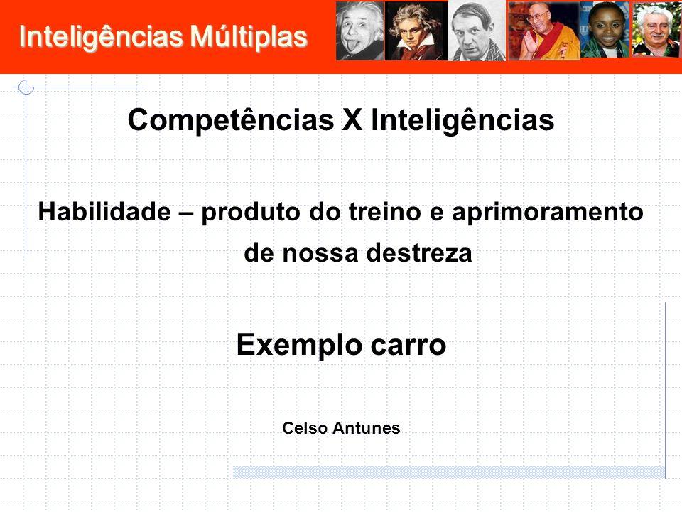 Competências X Inteligências Exemplo carro