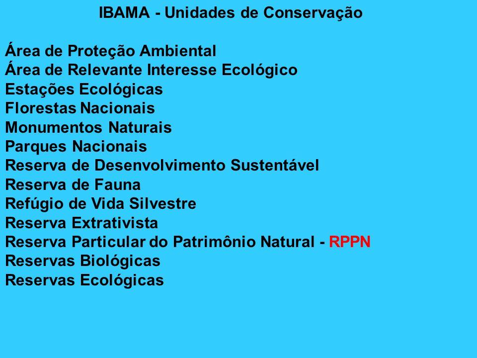IBAMA - Unidades de Conservação