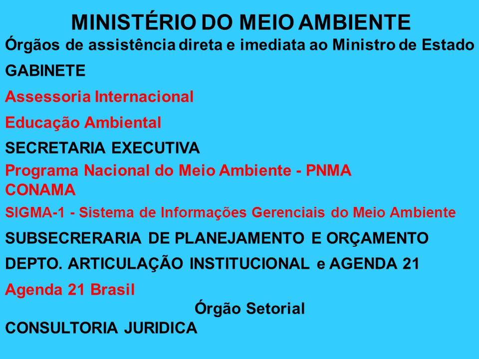 Assessoria Internacional Educação Ambiental SECRETARIA EXECUTIVA