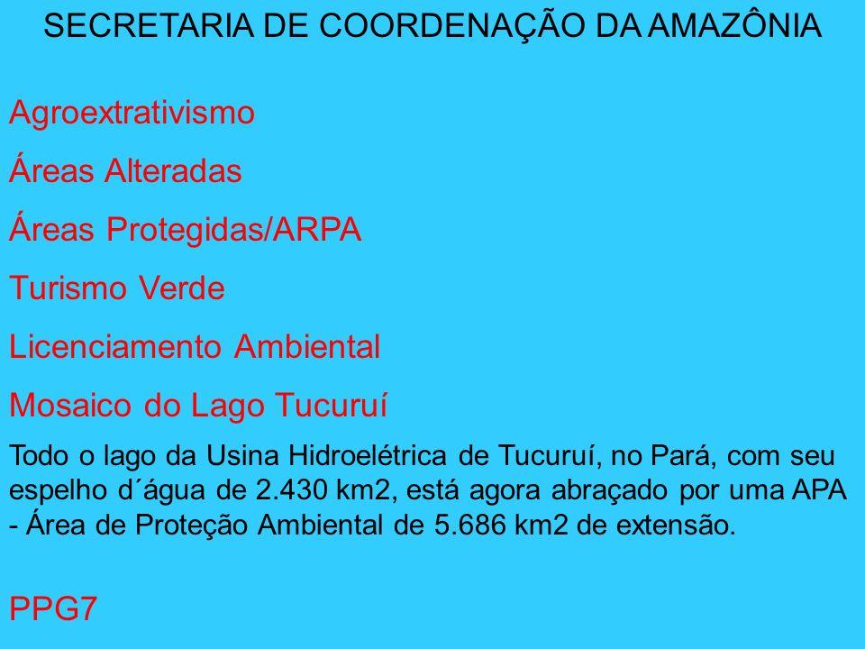 SECRETARIA DE COORDENAÇÃO DA AMAZÔNIA