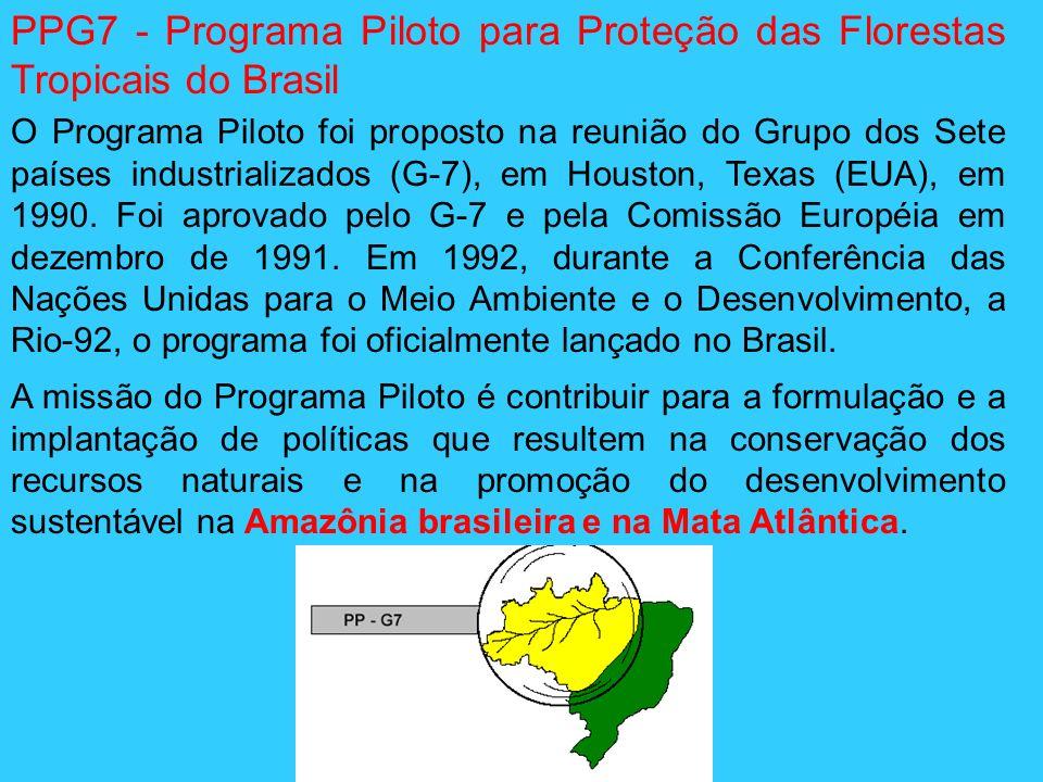 PPG7 - Programa Piloto para Proteção das Florestas Tropicais do Brasil