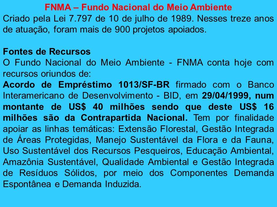 FNMA – Fundo Nacional do Meio Ambiente