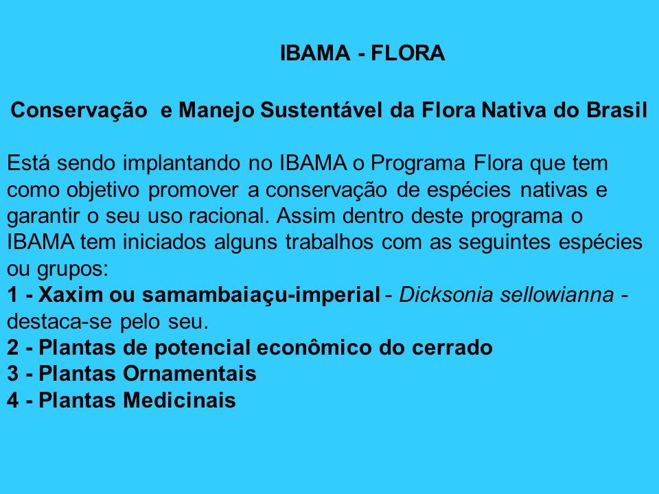 Conservação e Manejo Sustentável da Flora Nativa do Brasil