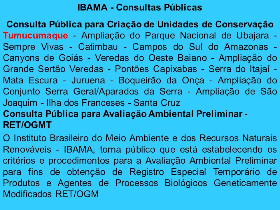 IBAMA - Consultas Públicas