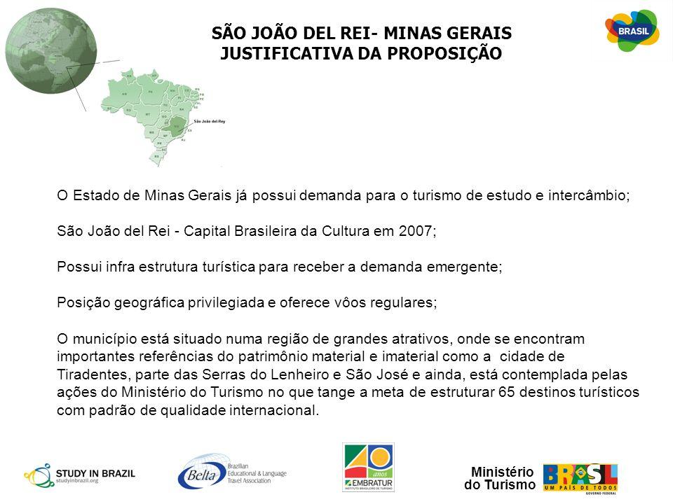 SÃO JOÃO DEL REI- MINAS GERAIS JUSTIFICATIVA DA PROPOSIÇÃO