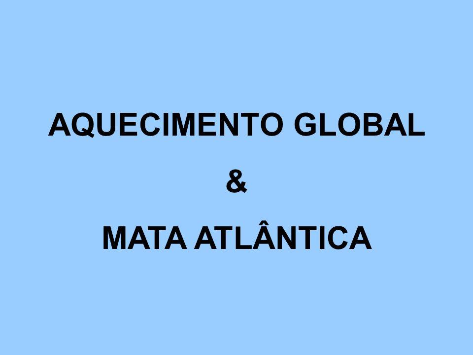 AQUECIMENTO GLOBAL & MATA ATLÂNTICA