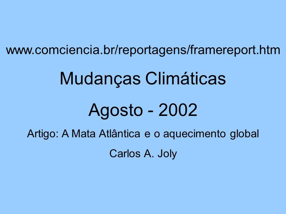 Artigo: A Mata Atlântica e o aquecimento global