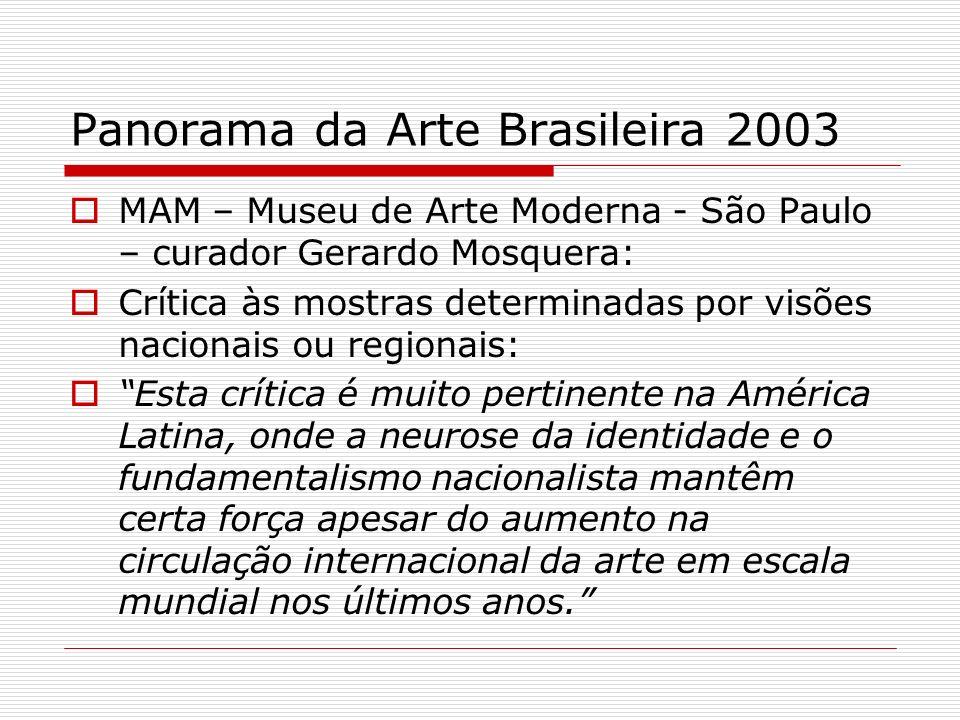 Panorama da Arte Brasileira 2003