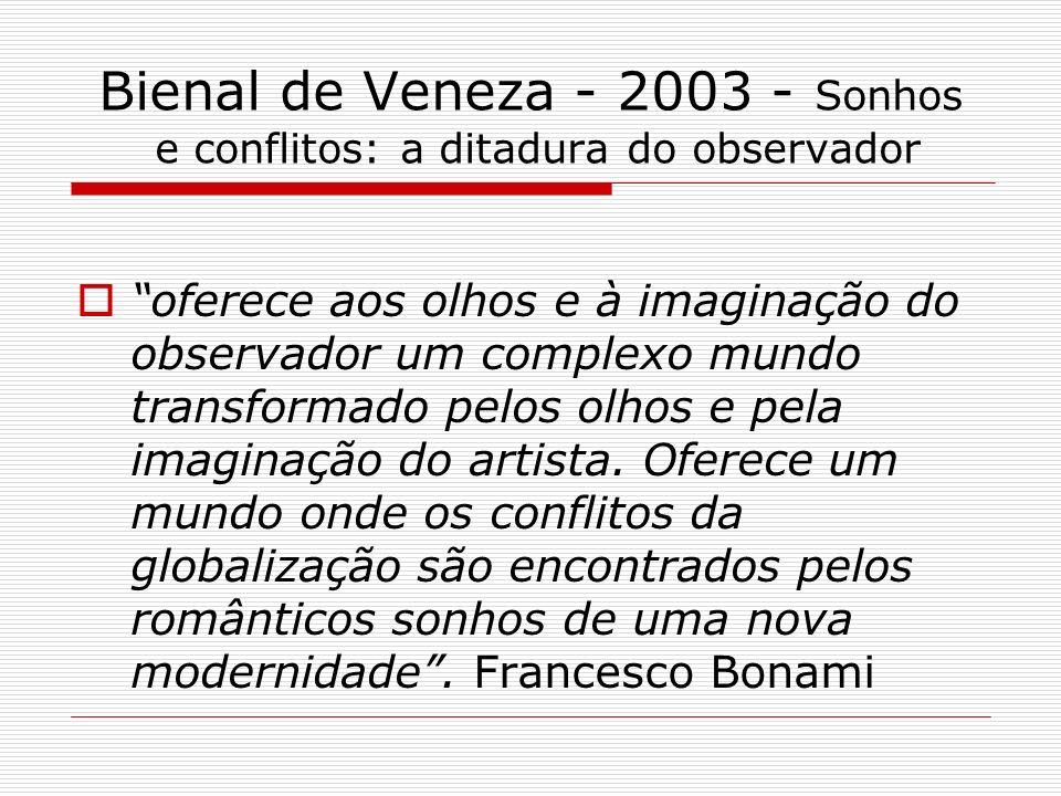 Bienal de Veneza - 2003 - Sonhos e conflitos: a ditadura do observador