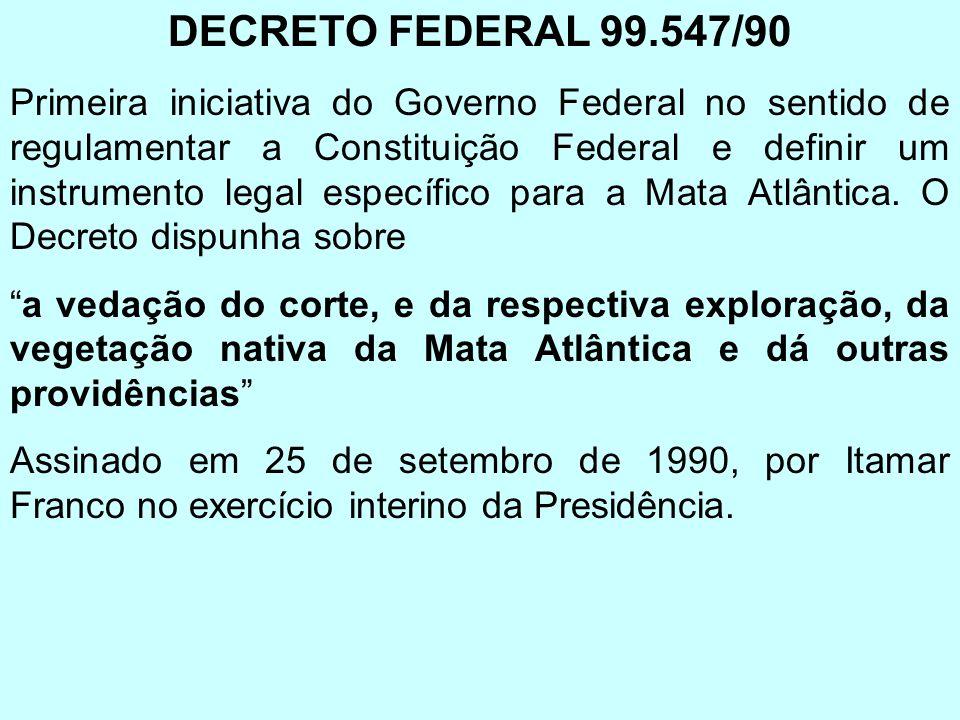 DECRETO FEDERAL 99.547/90